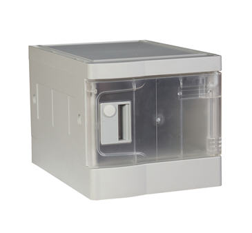 China Plastic Mini Lockers Transparent