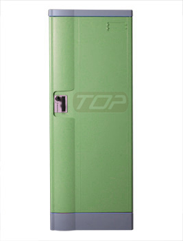 Double Tier Factory Lockers ABS Plastic, Green Color