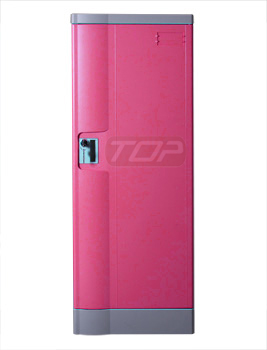 Double Tier Office Lockers ABS Plastic, Pink Color