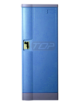 Double Tier School Lockers ABS Plastic, Navy Color