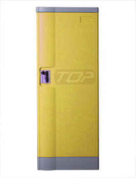 Double Tier School Lockers ABS Plastic, Yellow Color