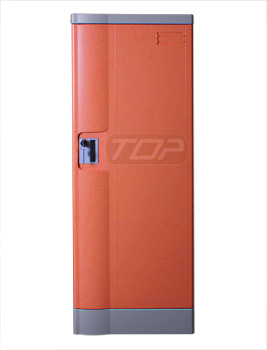 Double Tier Storage Lockers ABS Plastic, Orange Color