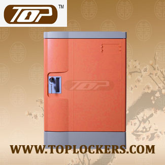 Four Tier Club Lockers ABS Plastic, Orange Color
