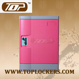 Four Tier School Lockers ABS Plastic, Pink Color