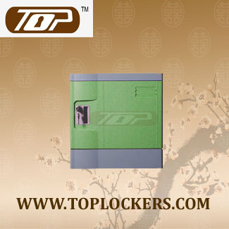 Six Tier Beach Lockers ABS Plastic, Green Color