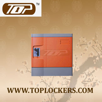 Six Tier Club Lockers ABS Plastic, Orange Color