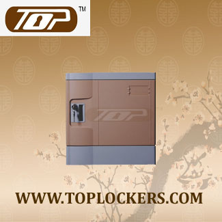 Six Tier Eco-friendly Plastic Lockers, Coffee Color