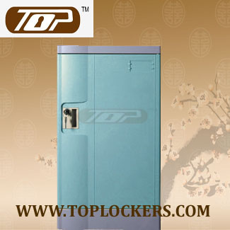 Triple Tier ABS Lockers Blue Color, Knocked-Down