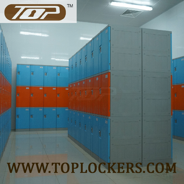 Triple Tier ABS Plastic Cabinets, Blue Color