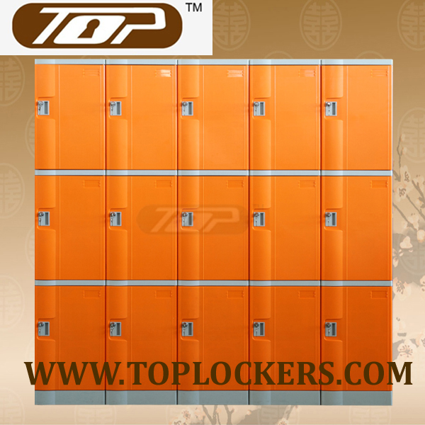 Triple Tier ABS Plastic Cabinets, Orange Color