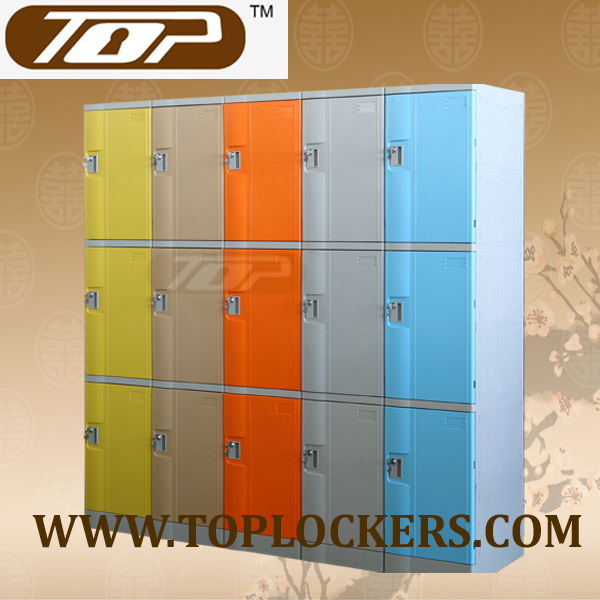 Triple Tier ABS Plastic Cabinets, Yellow Color