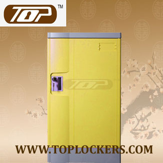 Triple Tier School Lockers ABS Plastic, Yellow Color
