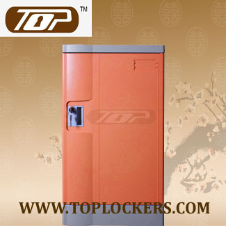 Triple Tier Storage Lockers ABS Plastic, Orange Color
