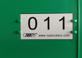 Plastic Locker Door Plate Application